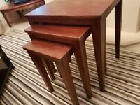 Wooden nest of tables