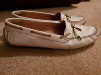 White deck boat shoes UK7