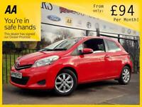 TOYOTA YARIS 1.3 VVT-I TR 3d 98 BHP Apply for finance Online today! (red) 2013