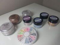 CND Acrylic powders and Ezflow pastel flower powders