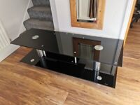Black & Silver high gloss TV stand