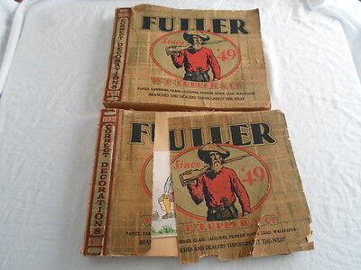 Lot of 2 W.P. Fuller & Co Wallpaper Sample Catalog 1934 Large 14 x 18