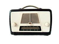 Ultra vintage valve radio Shiny 2 tone Bakelite case