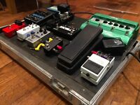 Full Pedal Board: Great pedals, board, and flightcase