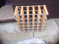 36 bottle wine rack for sale. good condition