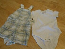 Up to 3 months Next dungaree shorts outfit