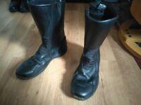 Free Frank Thomas Men's Waterproof Motorbike Boots Size 10