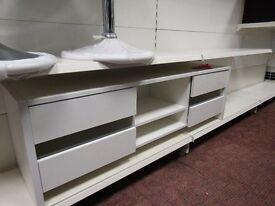 white designer TV cabinet