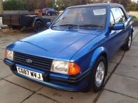 FORD ESCORT MK3 XR3i price;£ 6900 ono px/exch
