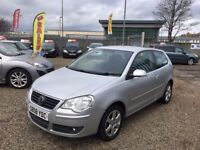 2008 Volkswagen Polo 1.2 Match 3dr LOW MILEAGE / 1 YEAR MOT