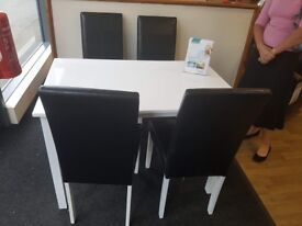 Brand New White Dinning Table with 4 chairs