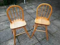 Two junior chairs