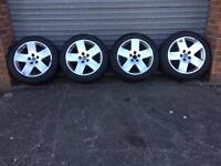 Audi A8 D3 Flat Five Alloy Wheel Set R18