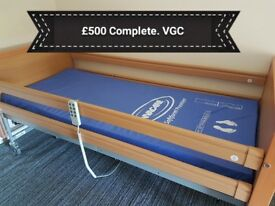 Profile bed and new Invacare Mattress, excellent condition. £500 quick sale due to house move.