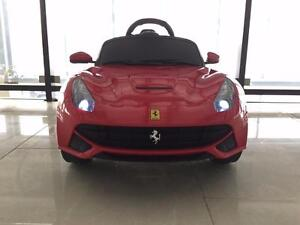New Kids Ride on car 12V Electric Ferrari 599 Remote Controlled MP3 Jack LED Light best present for kids toys Warranty