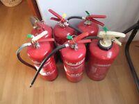 FIRE EXTINGUISHERS X 6