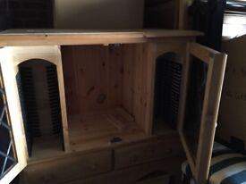 Pine two door cabinet
