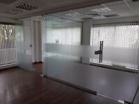 Office Glass Partition Available