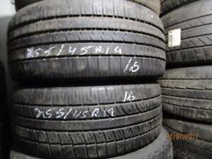 255/45R19 SET OF 4 ONLY USED EAGLE RS/A ALL SEASON TIRE