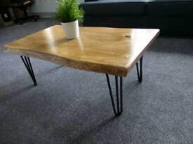 Live edge Solid oak coffee table