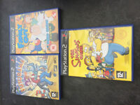 3x PS2 GAMES - FAMILY GUY, FUTURAMA, SIMPSONS