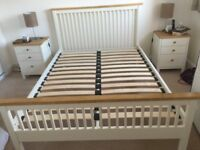 Wooden Bed frame with beech trim