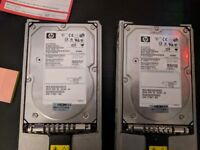 HP SCSI 320U 10k Hard Drives (36,72,146&300gb)