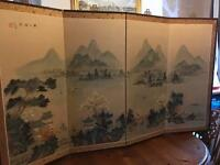 Chinese silk wall hangings
