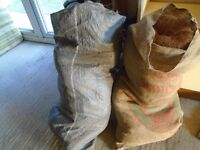 2 sacks horse hair