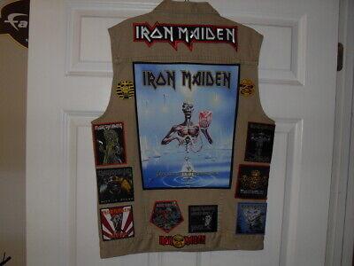 IRON MAIDEN Tribute Vest-TAN--XL  ****** NEW LISTING ********* 2Feb2019