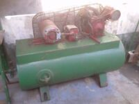 INGORSOLL RAND GARAGE COMPRESSOR . 3 phase . small V twin . £125 . Edinburgh