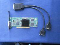 Matrox G550 Dual head Graphics card (G55MDDAP32DBF) PCI - DMS 60 + splitter cable for 2 x VGA 15 pin