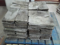 """1000 16""""x8"""" Welsh green roofing slates."""