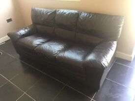 2 leather sofas Only 1 left