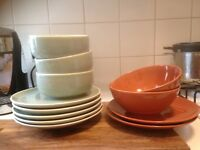 Job lot of plates, bowls, small plates, cups