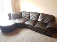 Leather Corner Sofa * MUST GO