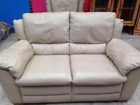 Italsofa Two seater sofa and matching manual reclining chair.