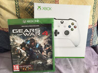 XBOX ONE GAMES - GEARS OF WAR 4 + WHITE CONTROLLERS S - BRAND NEW & SEALED