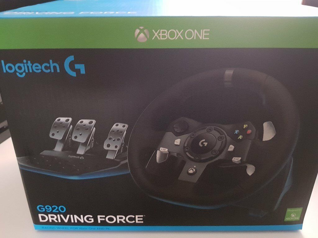 7bfe94bd6ec Logitech G920 Driving Force Racing Wheel and Pedals (Xbox One and PC)