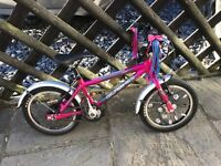 Islabikes Cnoc 14 small (pink, with mudguards and stabilisers)