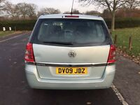 2009 Vauxhall Zafira 1.6 i 16v Exclusiv 5dr PCO Licence MOT History + HPI CLEAR @07445775115@