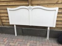 Next French Chic Ivory Kingsize Wooden Headboard