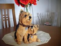 LIFE SIZE YORKSHIRE TERRIER ORNAMENTS, A SELECTION OF INDOOR ORNAMENTS OF YORKSHIRE TERRIERS