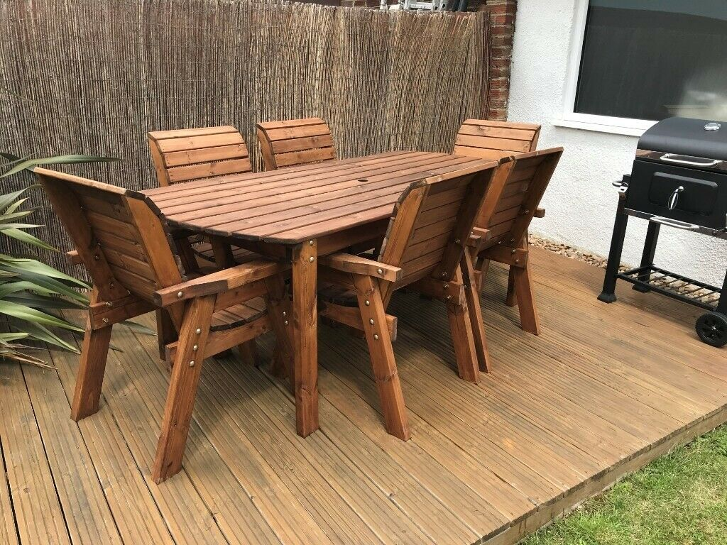 7ft Wooden Garden Table & 6 Chair Set | in Didcot ...