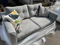 Orla Kiely Linden Fabric Sofa In Grey