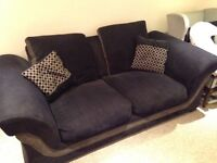 Large navy double sofa bed
