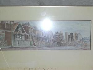 Heritage Vancouver Centennial Painting w/ Bronze frame