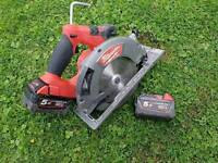 Milwaukee M18CCS66-502C Milwaukee 18v Fuel Brushless 190mm Circular Saw -plus 2x5.0Ah