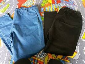 2 x jeans elasticated waist size 22