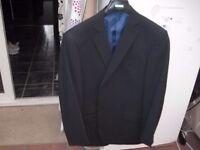 Mens Pin stripe suit 46R jacket 40R trousers